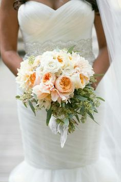 Cabbage rose, rose, peony bouquet