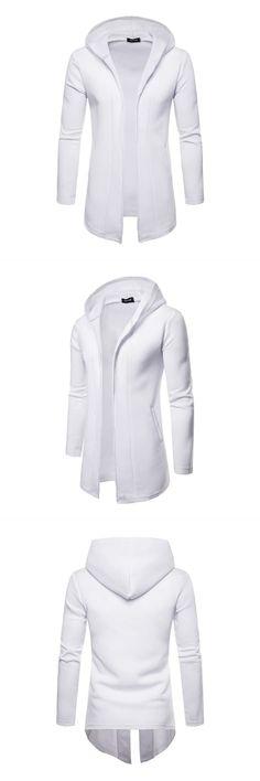 Sweatwater Mens Thicken Classic Fit Fleece Hoodie Overcoat Slim Parkas Coat