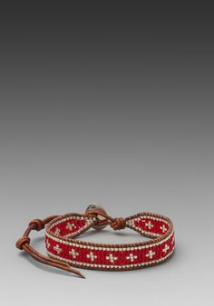 CHAN LUU Bracelet in Maroon Mix/Natural Brown