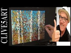 Birch Trees, Acrylic Painting for beginners, - YouTube