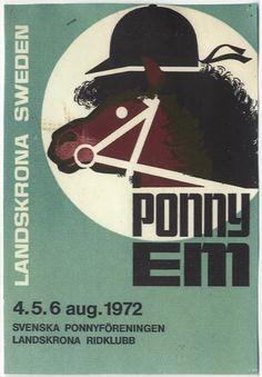Affisch från Joja Lewenhaupts arkiv. Joja (Carl Johan) Lewenhaupt 1916-2001 grundade Svenska Ponnyryttarförbundet 1954. Han var också den som tog islandshästen till Sverige. Arkivet förvaras på Landsarkivet i Lund.