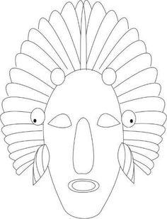 25 Mascaras Africanas para Imprimir - Educação Infantil - Aluno On