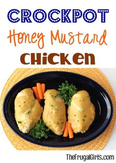 Crockpot Honey Mustard Chicken Recipe! ~ from TheFrugalGirls.com ~ this Slow Cooker dinner recipe is ridiculously easy to make and packed with delicious flavor in the sauce!! #slowcooker #recipes #thefrugalgirls