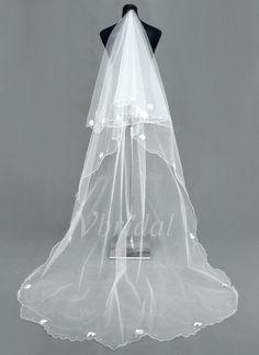 Voiles de mariage - $32.99 - 1 couche Voiles de mariée cathédrale avec Bord festonné (00605003673)