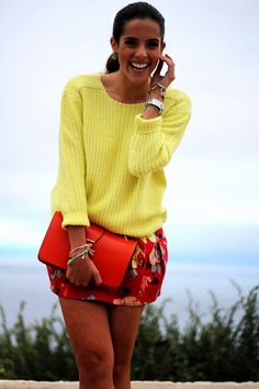Bright Day (Knitwear Sweaters  Floral Skirts )