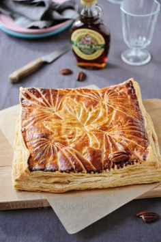 Galette with maple syrup and pecans