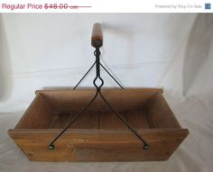 three day sale Vintage French Primitive Trough by thelongacreflea on etsy.