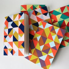 triangle jotter - paintedfishstudio