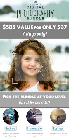 The Ultimate Photography Bundle - These resources changed the way I document my kids, esp. loved the iphone course - can't recommend it enough! (And can't beat getting them all for over 90% off!)
