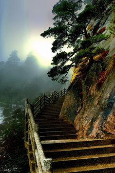 Huangshan mountain, China.  UNESCO world heritage site.