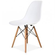 Eames Style Plastic Tub Chair, White and other colours. Inspired Eiffel Retro DS