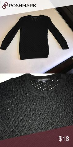Banana Republic Diamond knit sweater Very gently used. No damages, stains, or wearing. Banana Republic Sweaters Crew & Scoop Necks