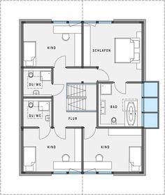 Grundriss Obergeschoss HUF Haus modum 8 10