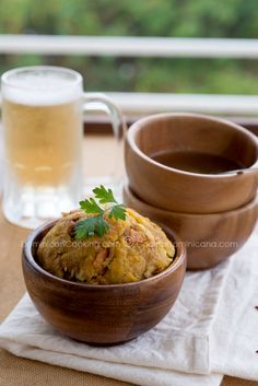 Mofongo (Garlic-flavored mashed plantains) Saw this stuff on Diners Drive Ins and Dives:)