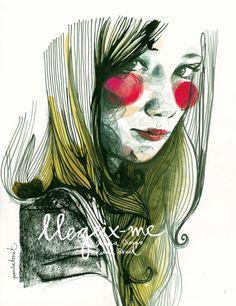 por la excelente Paula Bonet!!! ❤  Illustration, Mode, Zeichnung, Fashion, Girl, Color, Farbe