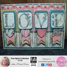 Today's new video cardmaking project uses the gorgeous Free Spirit Collection from FabScraps, this collection is full of great colour and so versatile.