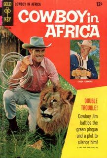 """Movie Western Comics - Western Comics Part  - Based on the Chuck Connors film, """"Cowboy in Africa"""""""