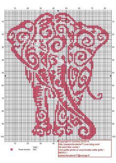 Pink Elephant Chart (I love this elephant pattern)