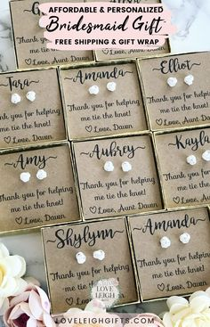 Bridesmaids Gift Ideas / Personalized Bridesmaids Proposal / Bridal Party Jewelry Gifts / Cheap - Give your bridesmaids a gift they'll love! These affordable bride - Bridesmaid Gift Boxes, Bridesmaid Proposal Box, Personalized Bridesmaid Gifts, Bridesmaid Jewelry, Bridesmaid Gifts From Bride, Ask Bridesmaids To Be In Wedding, Asking Bridesmaids, Before Wedding, Wedding Day