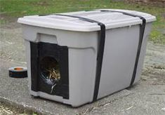 Here's how to create and inexpensive outdoor cat shelter for your own cat or a stray cat.  Having a proper cat shelter is the most important thing to a cat that lives outdoors in the winter -- it is more important than plenty of food.