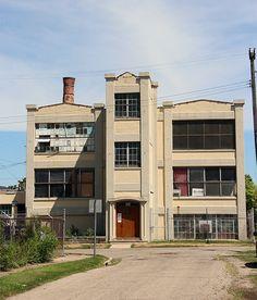 The site of Heritage Guitar, Inc. in Kalamazoo, Michigan.  Former home of Gibson Guitars.  Photo credit:  Julia Crowe