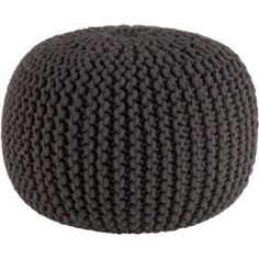 knitted graphite pouf  $89.95  cb2