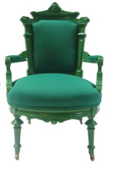 matching the wood (laquer) to the upholstery in a bold color (not this shade) might work for Victorian