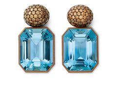 aquamarines - diamonds - white gold - copper 2011