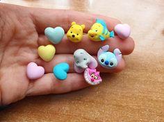 Earrings ❄️❤️ Il mio preferito è Flounder! #fimo#fimocreations#fimosoft#fimoart#fimoclay#disney#craft#cernit#polymerclay#polymer#polymerclaycharms#etsyshop#dumbo#winniethepooh#stitch#stregatto#flounder#pastel#colors#art#polymerclaycharms#polymerclaycharm#earrings#disneylover