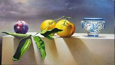 Por amor al arte: Luigi Grassia Luigi, Art Projects, Painting Art, David, Oil, Still Life, Watercolors, Fruit Painting, Hyperrealism