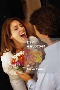 Surprised Woman Receiving Flowers Royalty-free Image | Getty Images ...