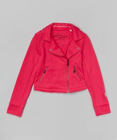 Another great find on #zulily! Fuchsia Moto Jacket - Girls #zulilyfinds