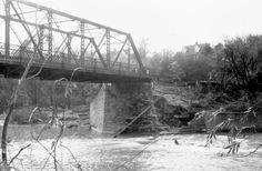 Humber River, Old Dundas St. bridge, looking s.w., Toronto, Ont.