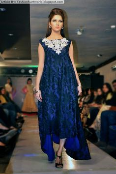 Royal blue burnt velvet asymmetrical hemline with silver jewel neckline