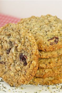 hemp and chia seed oatmeal cookies