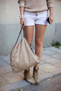 Labels we love: Stella McCartney (bag) and Isabel Marant (boots)
