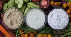 Oil-Free Dressings & Dips (Vegan!) + how to roast garlic.  Recipes: Tahini Sauce, Creamy Avocado Dip, Vegan Tzatziki.