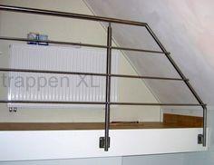 #Balustrade met afwerking voor het schuine dak. #vide