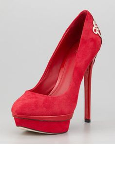B Brian Atwood Fashina Platform Pump Red
