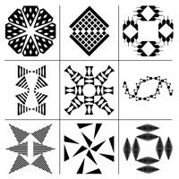 Free Printable Download Here is a set of nine more complex white on black geometric designs. Maybe they'll be a bit more interesting to your older baby.