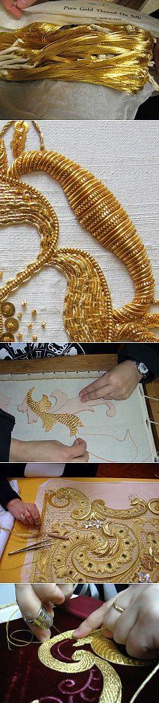 Золотное шитье — Рукоделие