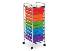 recollections 10 drawer rolling cart