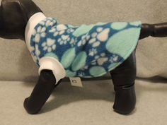 X Small Dog Fleece T Shirt Paws by favorite4paws on Etsy