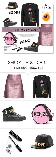 """""""Logomania!"""" by viola279 ❤ liked on Polyvore featuring Carven, Fendi, Moschino, Kenzo and Bobbi Brown Cosmetics"""