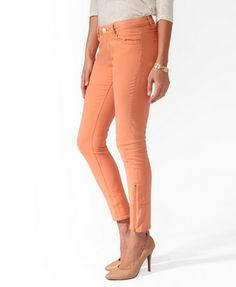 Life In Progress Zipped Twill Pants   FOREVER 21 - 2008586125
