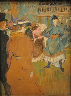 Henri De Toulouse-Lautrec - Quadrille at the Moulin Rouge at National Art Gallery Washington, DC