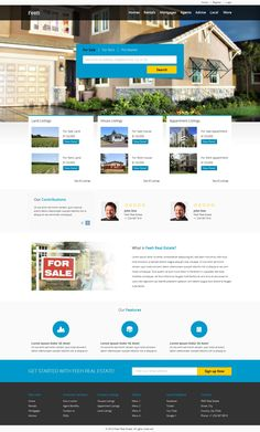 Homepage for Real-Eastate website