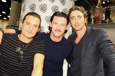 Three sexy men! Orlando Bloom, Luke Evans, and Lee Pace.... Yes please!