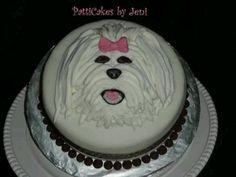 'Joie' Coton de Tulear cake