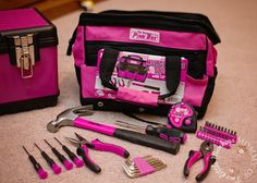 The Original Pink Box Tools from Sears Pink Love, Cute Pink, Pretty In Pink, Farmhouse Storage Cabinets, Pink Tool Box, Mechanic Tool Box, White Bin, Tools For Women, Tool Sheds